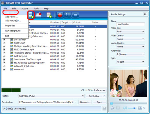 XviD Converter, XviD to MP4 Converter