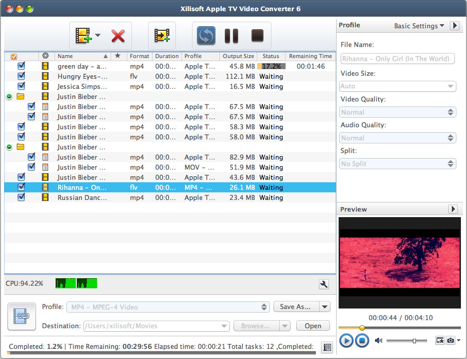 Xilisoft Apple TV Video Converter for Mac 6.0.3.0428