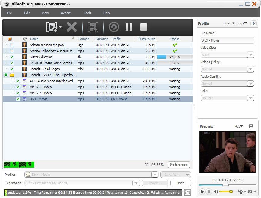 Click to view Xilisoft AVI MPEG Converter 6.0.7.0707 screenshot