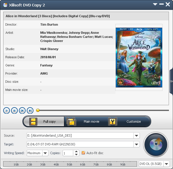 Click to view Xilisoft DVD Copy screenshots