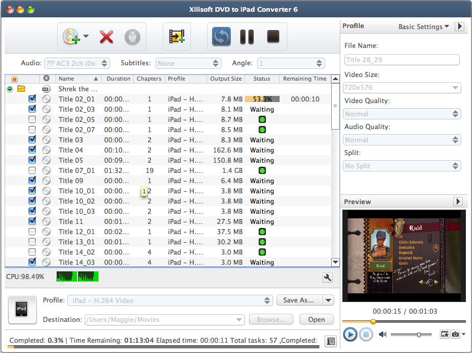 Xilisoft DVD to iPad Converter for Mac 6.5.1.0322
