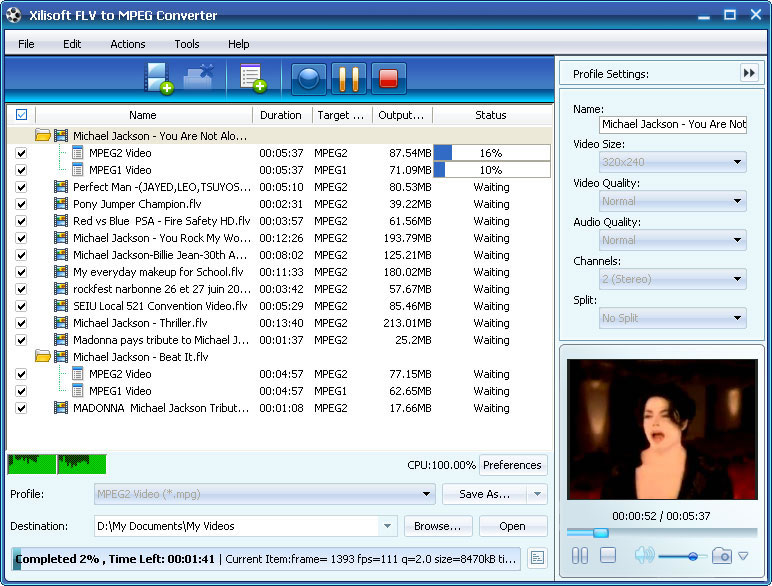 التعريب Xilisoft MPEG Converter MPEG x-flv-to-mpeg-conver