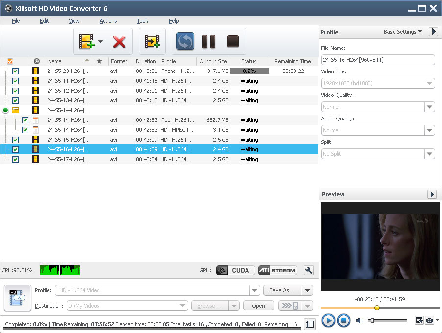 Click to view Xilisoft HD Video Converter 7.0.1.1221 screenshot