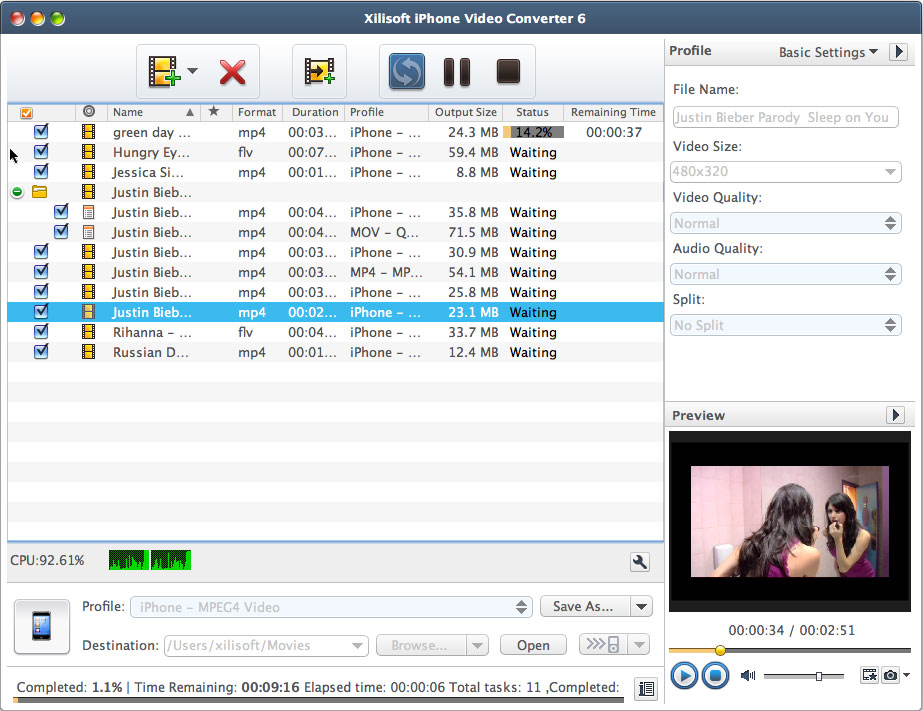 Xilisoft iPhone Video Converter for Mac 6.5.2.0310 full