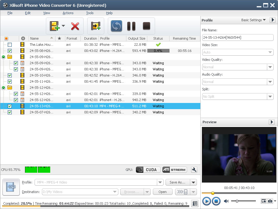 Click to view Xilisoft iPhone Video Converter 6.0.12.0914 screenshot