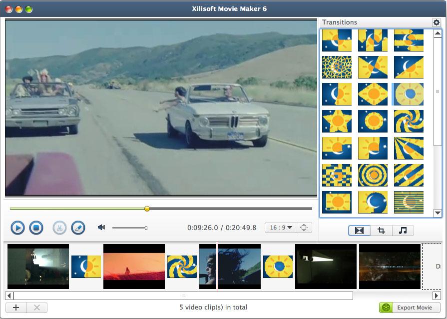 Xilisoft Movie Maker for Mac