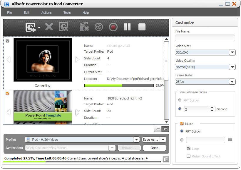 Windows 7 Xilisoft PowerPoint to iPod Converter 1.0.4.1018 full