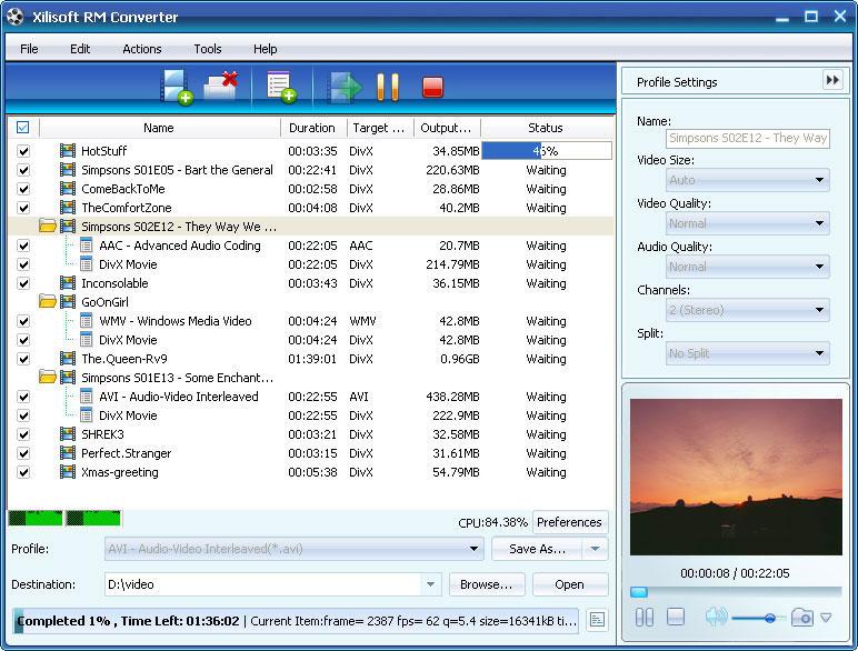 ����� Xilisoft RM Converter v5 ������ ������� ������ �� ���� RM