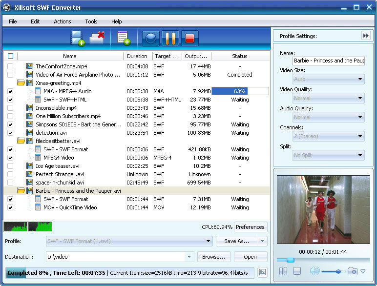 ����� Xilisoft SWF Converter ������ ���� ����� ������� ��� ���� SWF