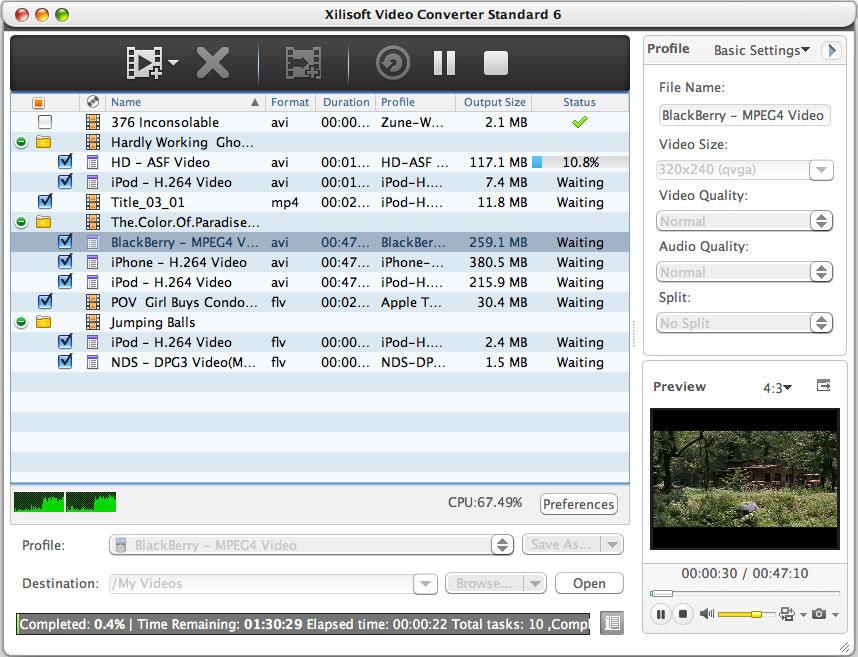 Xilisoft Video Converter Standard for Mac 6.0.14.1116