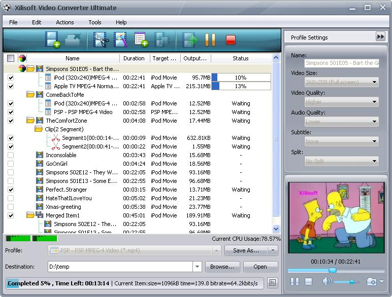 ����� ������� ������ �������� ������� Xilisoft Video Converter Ultimate 5.1.24.0424