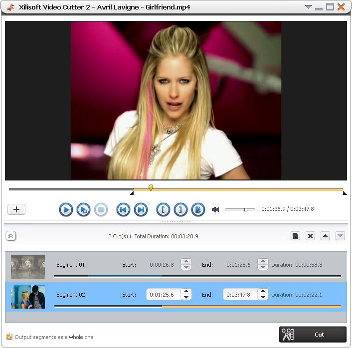 Click to view Xilisoft Video Cutter 2.1.0.0823 screenshot