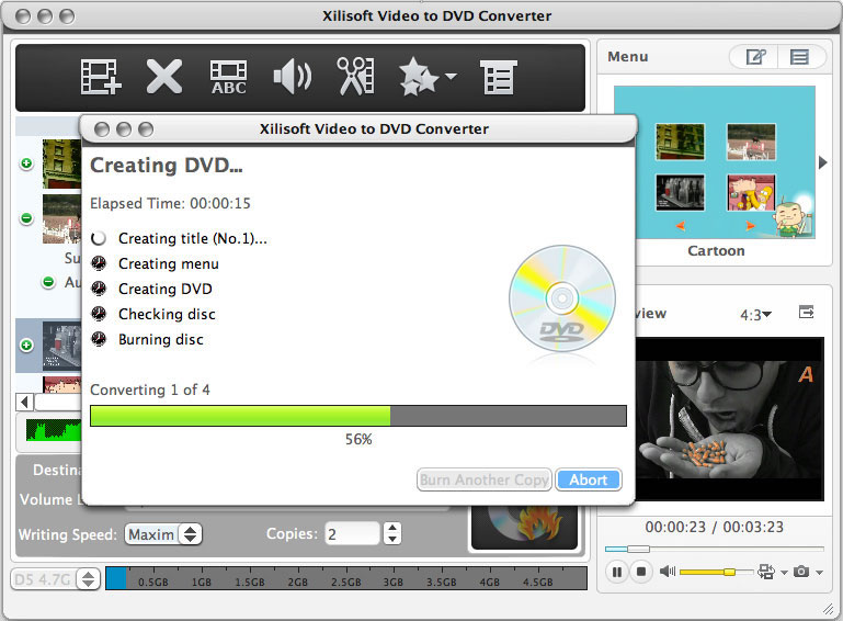 Xilisoft Video to DVD Converter for Mac 6.0.6.0527