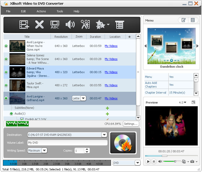 Xilisoft Video to DVD Converter 6.0.6.0527