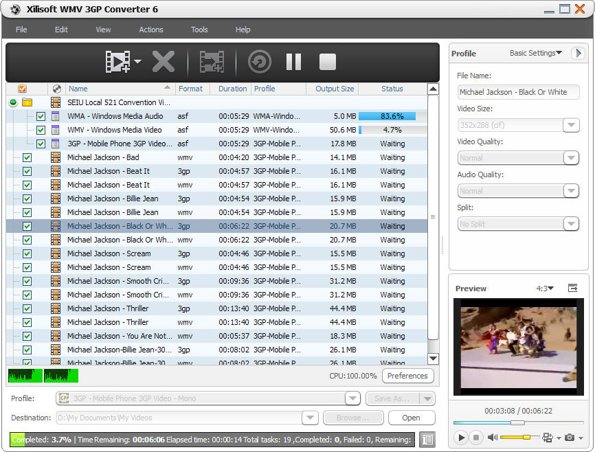 Xilisoft WMV 3GP Converter 6.0.2.0415