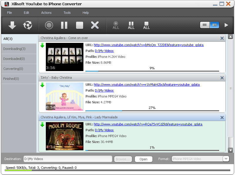 Xilisoft YouTube to iPhone Converter