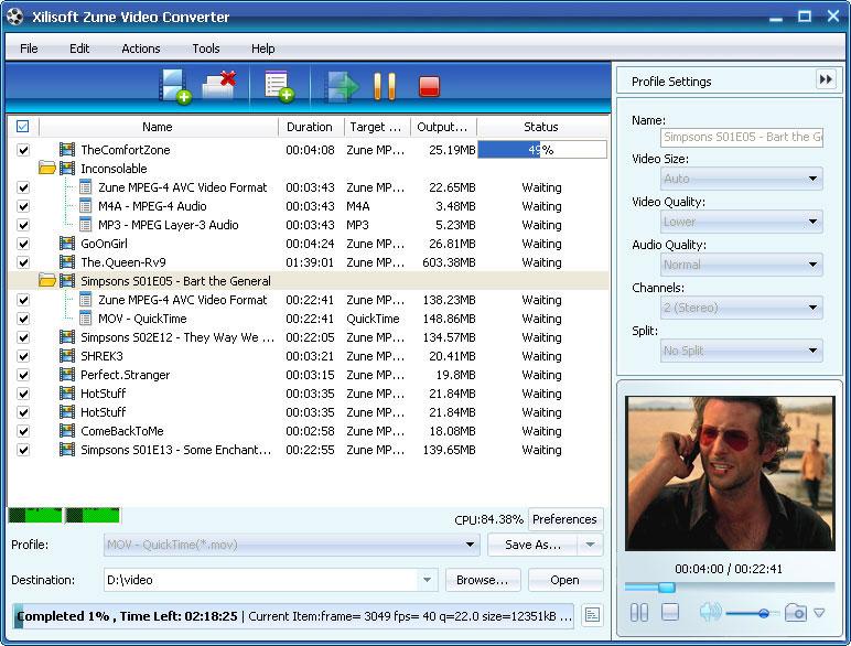 ����� Xilisoft Zune Video Converter v5 ����� ������� ����� Zune MP3 Player